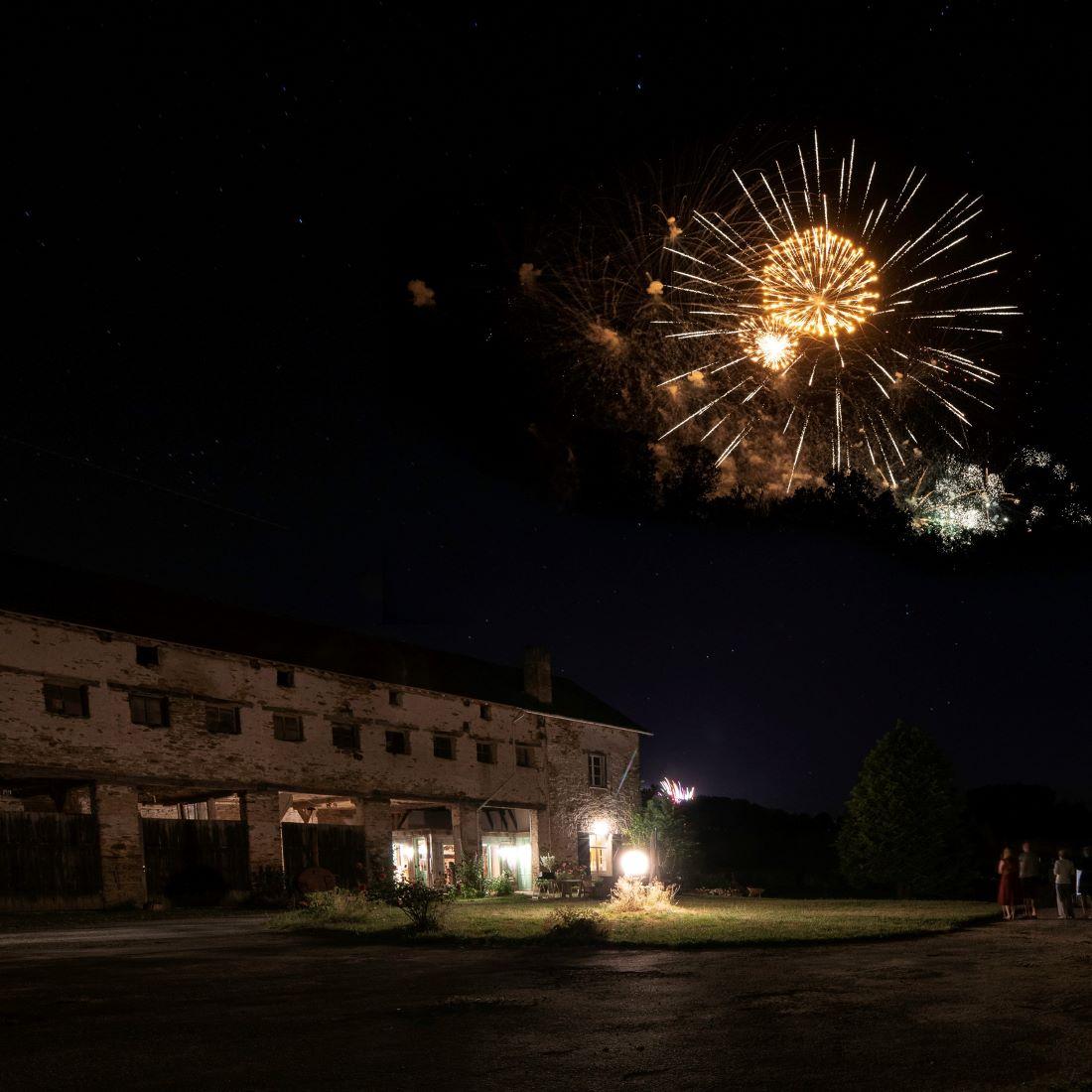 Vuurwerkshow in augustus