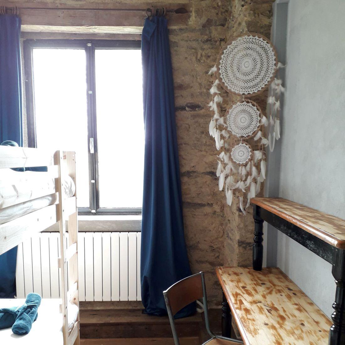 Slaapkamer voor 2 met stapelbed