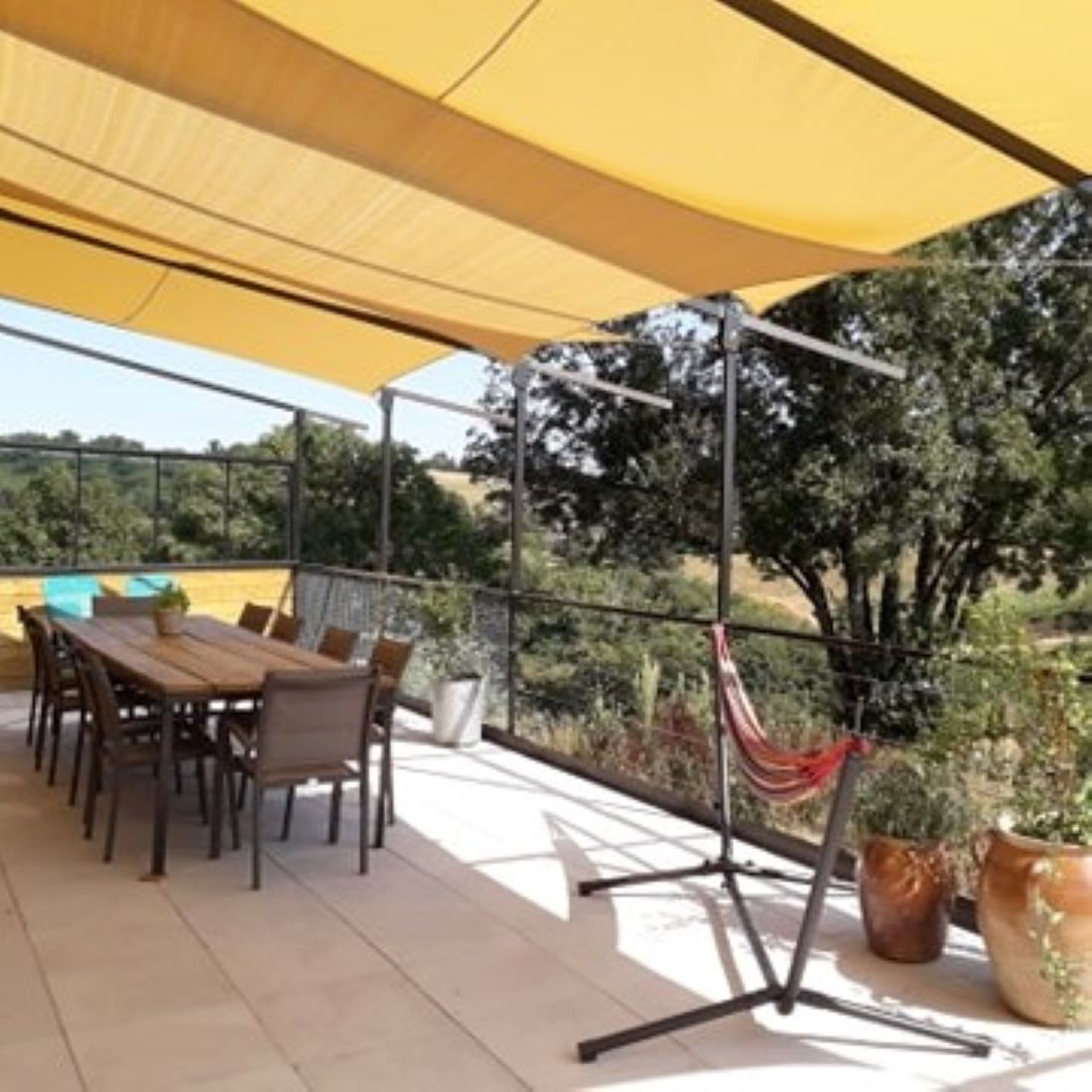 Balkon, hangmat, barbeque
